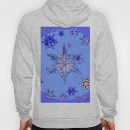 """BLUE SNOW ON SNOW"" BLUE WINTER ART Hoody"