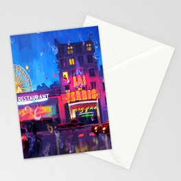 Paris in the Rain Stationery Cards