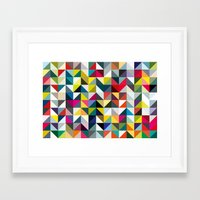 book cover Framed Art Prints featuring 100 book cover colours by Coralie Bickford-Smith