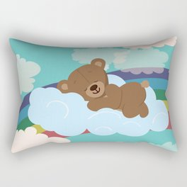 Teddy Bear and clouds Rectangular Pillow