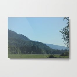 Pines in the Cascades Metal Print