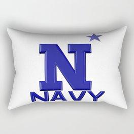 Blue Navy Star Logo Rectangular Pillow