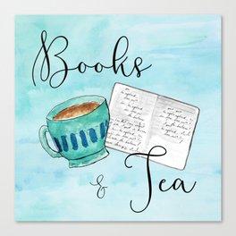 Books & Tea Canvas Print