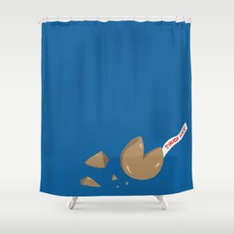 'Tough Luck' Fortune Cookie Pun Shower Curtain