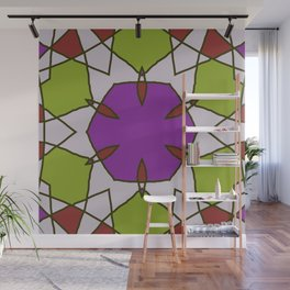 Abstract Red Purple Green Wall Mural