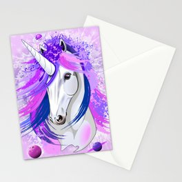 Unicorn Spirit Pink and Purple Mythical Creature Stationery Cards