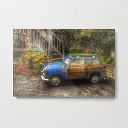 Off to Fulfill a Surfing Dream Metal Print