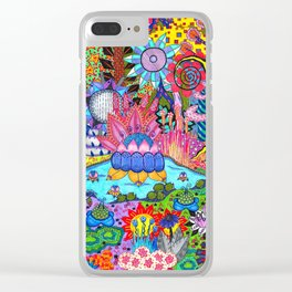 Pond Abstract Clear iPhone Case
