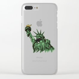 Rotting Statue of Liberty | Anti Government Clear iPhone Case