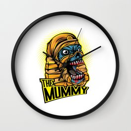 A Unique Detailed Mummy Zombie Tee For Yourself? Here's An Awesome T-shirt Saying The Mummy Design Wall Clock