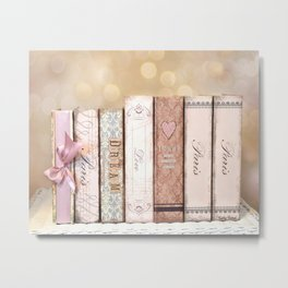 Paris Dream Love Books Print Metal Print