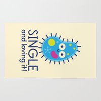 biology Area & Throw Rugs featuring It's All About Paramecium by David Olenick