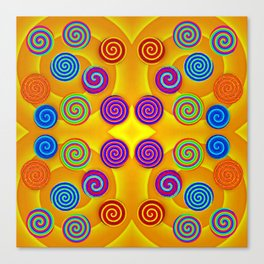 Colorful soft twirls by wool Canvas Print