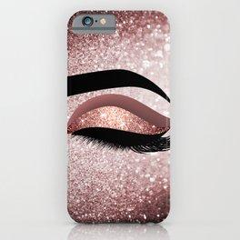 Rose gold Lashes Eye iPhone Case