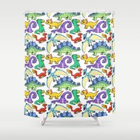 dinosaurs Shower Curtains featuring Dinosaurs!!!! by Morgan