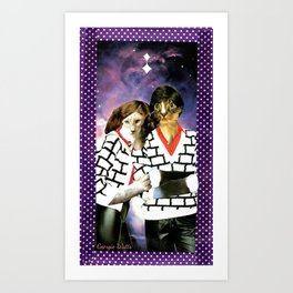 ME + U 4EVA handcut collage Art Print