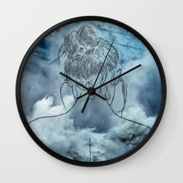 Lonely woman Wall Clock