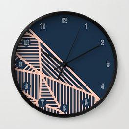B Rays Geo 1 Wall Clock