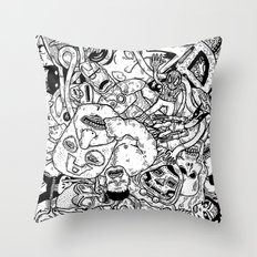 Mutant Pile-Up Throw Pillow