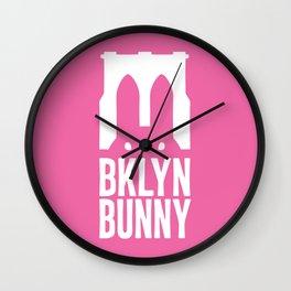 Brooklyn Bunny Logo (Pink) Wall Clock
