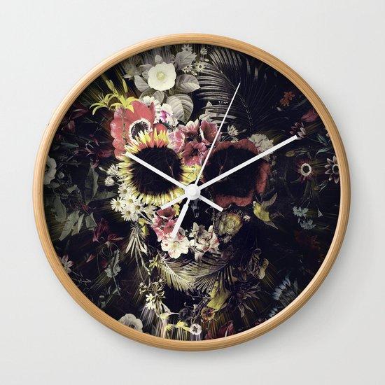 Garden Skull Wall Clock