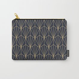 Art Deco Vector in Blue and Gold Carry-All Pouch