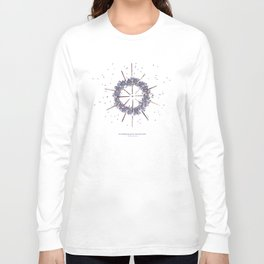 nature mandala... sea hedgehog spines, lavender buds Long Sleeve T-shirt