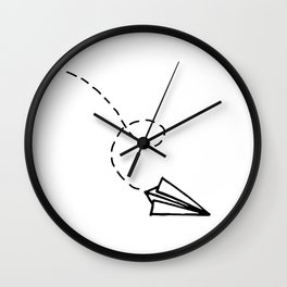 Send It // Simple Paper Airplane Drawing Wall Clock
