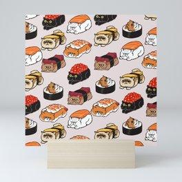 Sushi Persian Cat Mini Art Print