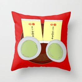 Tea Ceremony in Koyasan, Japan Throw Pillow