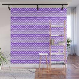 Purple Lavender Lilac Ombre Chevron Wall Mural
