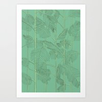 palms Art Prints featuring Palms by Robert Høyem