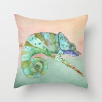 karma Throw Pillows featuring Karma by Catherine Holcombe