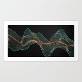 Aquaman smoke Art Print