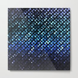 Crystal Bling Strass Blue G312 Metal Print