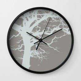 Icy Winter Tree Wall Clock
