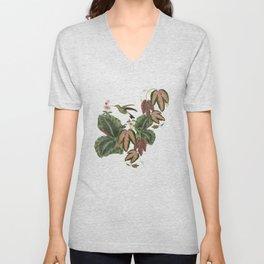 Antique french exotic botanical collage_Bloomartgallery Unisex V-Neck