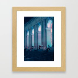 Late Night Thinking, Melbourne Framed Art Print