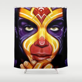 Gemini, inspired by Prince Shower Curtain