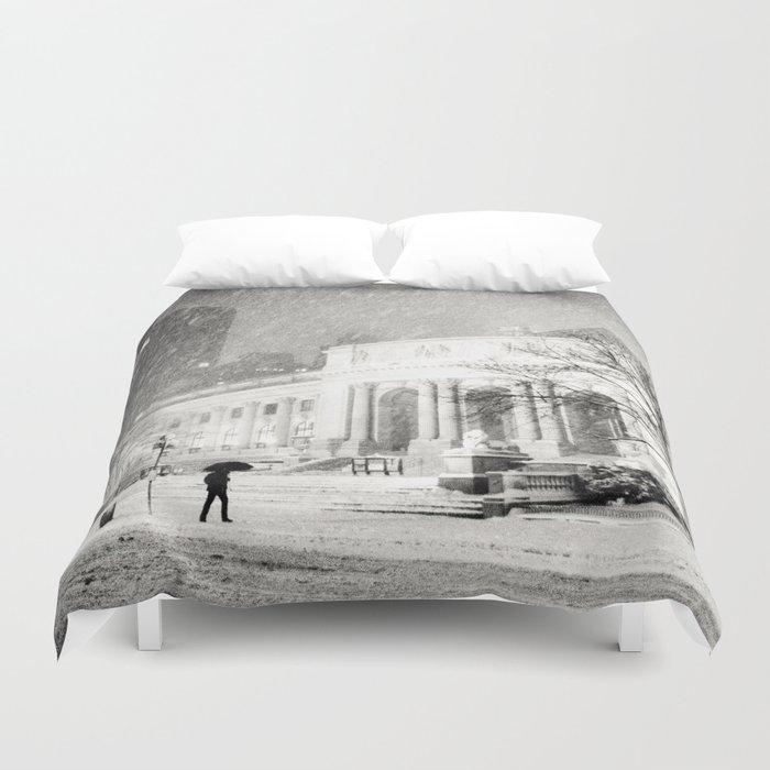 New York City Snow - 5th Avenue Duvet Cover