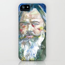JOHANNES BRAHMS - watercolor portrait.1 iPhone Case