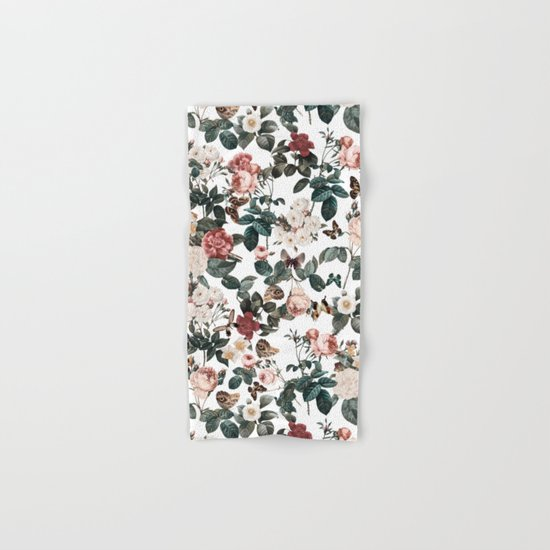 Floral and Butterflies II Hand & Bath Towel