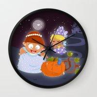 cinderella Wall Clocks featuring Cinderella by Alapapaju