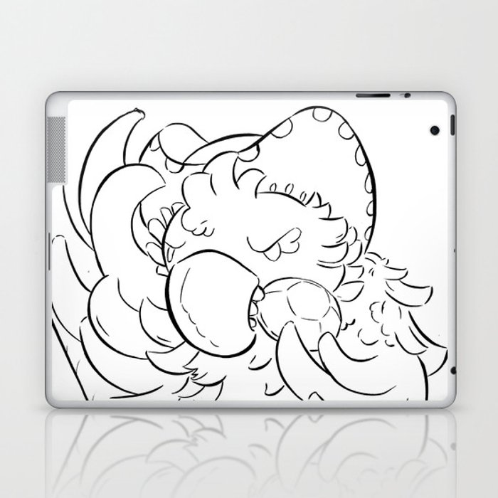 Pirate Parrot - ink Laptop & iPad Skin