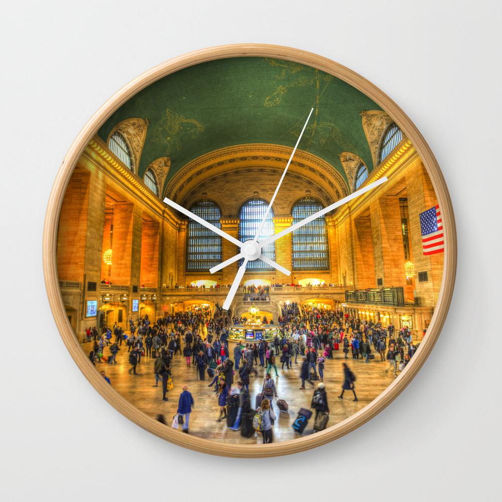 Grand Central Station New York Wall Clock by Davidpyatt CLK8321773