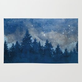 Icy Forest & Sky Rug