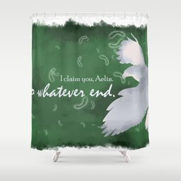 To Whatever End (Green) Shower Curtain