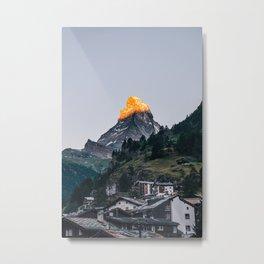 Beautiful Matterhorn in Sunrise Metal Print