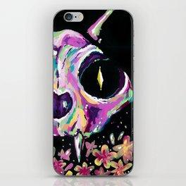 Cat skull iPhone Skin