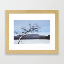 New Hampshire White Mountains Covered in Snow Conway NH Framed Art Print